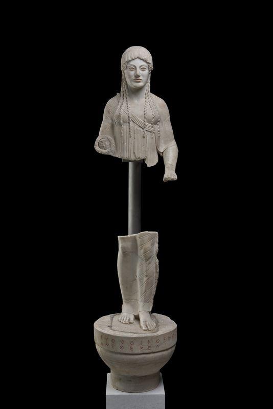 Acropolis statue Kore Museum quality art Greek sculpture